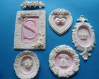 KIT 5 QUADROS ROSA PERSONALIZADO