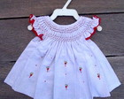 Vestido Casinha De Abelha branco Rn