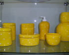 Kit higiene porcelana po amarelo