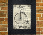 Quadro 26x21 - Love Vintage Bicicleta