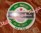 Adesivo Circular Personalizado Casamento