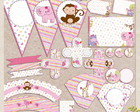 Kit Festa Cute Jungle Friends (Digital)