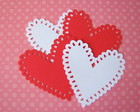 Petite Heart Doily Valentine (A232)