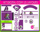 Kit Digital 15 layouts grtis convite
