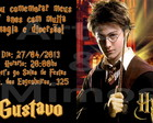 Convite Harry Potter