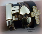 CONJUNTO PULSEIRAS EM COURO