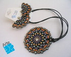 Colar + Brincos MANDALAS METLICAS 15