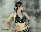 Busti� mix verde dan�a tribal