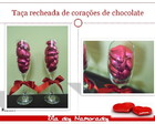 Ta�as com Cora��es de Chocolate