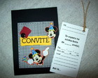 CONVITES SCRAPBOOK - MICKEY MOUSE