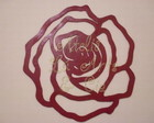Escultura Rosa em MDF