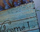 Placa Welcome Light Blue