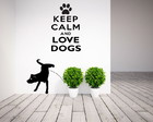 Adesivo Keep Calm and Love Dogs