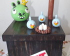 Caixa TNT - Angry Birds - mdf e biscuit