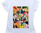 Camiseta feminina Pop art quadrinhos