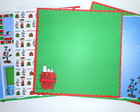 Kit 7 Pap�is Scrapbook Natal Snoopy