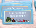 Kit Etiquetas E Tags: Angry Birds