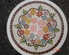 Tampo de mesa de mosaico