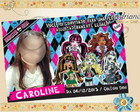 Convite Monster High Turma Color