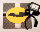 Convite de festa infantil do batman