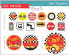 Kit Digital Toppers Hot Wheels