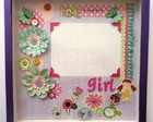 Quadro De Scrapbooking: Tema Love Girl