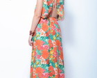 Maxi Dress Longo Colorido Estampado 2014