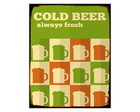 Placa MDF Retrô- Cold Beer Fresh 2 - 718