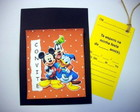 CONVITE SCRAPBOOK - TURMA DO MICKEY