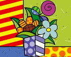 QUADRO POP ART - MY FLOWER - (45 X 45)