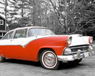 QUADRO VINTAGE - RED CAR - (30 X 30)