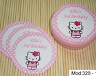 R�tulo Latinha Mint To Be Hello Kitty