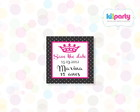 Save the Date 5x5cm Tema: Pink e Preto