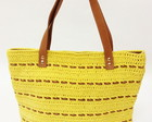 Shopping Bag de Croche e Couro