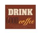Placa Mdf Retrô Drink Good Coffee - 734