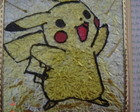 Pintura vitral do Pikachu 10 x 15 cm