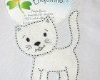 GATO BRANCO 15cm