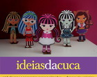Mini Totens 25cm em MDF Monster High