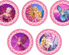 barbie 25 Toppers Adesivos