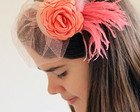 00475 Headband Salmão Bloom