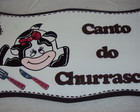 Plaquinha Canto do Churrasco