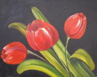 Painel &quot;Tulipas Vermelhas&quot;