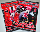 Revista c/ giz kit colorir Minnie Mouse