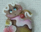 Aplique Cupcake Ginger pintura country