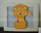 (DO 0006) Quadro decorativo leozinho
