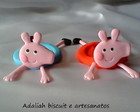 Porta doces peppa pig e george biscuit