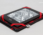 Capa Kindle/ Kobo/Lev - Jeans/Xadrez Red
