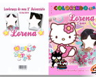 Revista de Colorir Hello Kitty