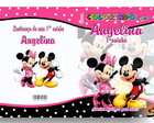 Revista Personalizada Minnie e Mickey