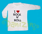 T-Shirt Bb Manga Comprida I ♥ Rock